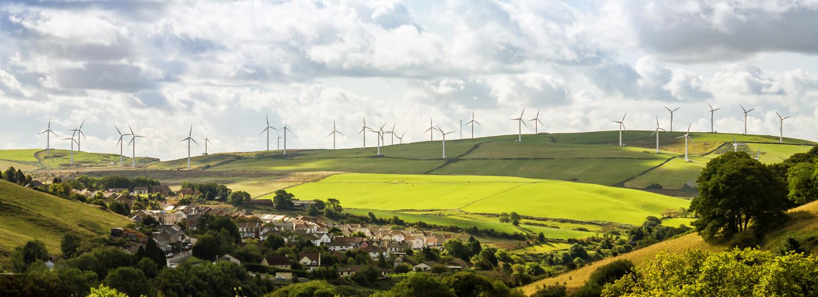 Wind-farm scenery