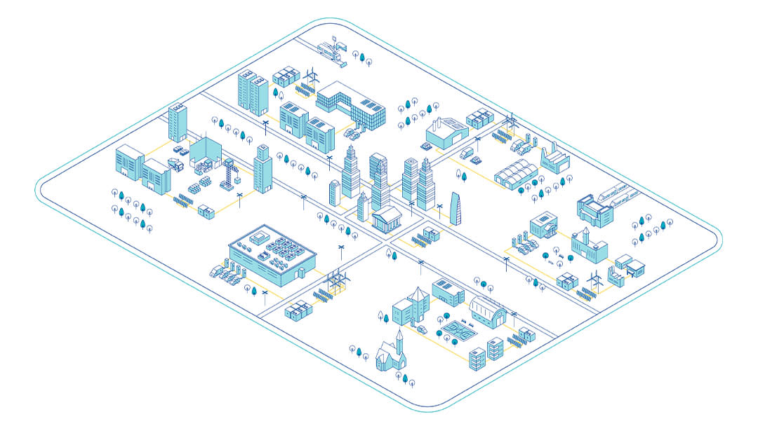 Cityscape Infographic - markets