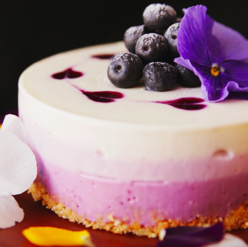 No Bake Blueberry Cheesecake ~ Recipe | Tastemade