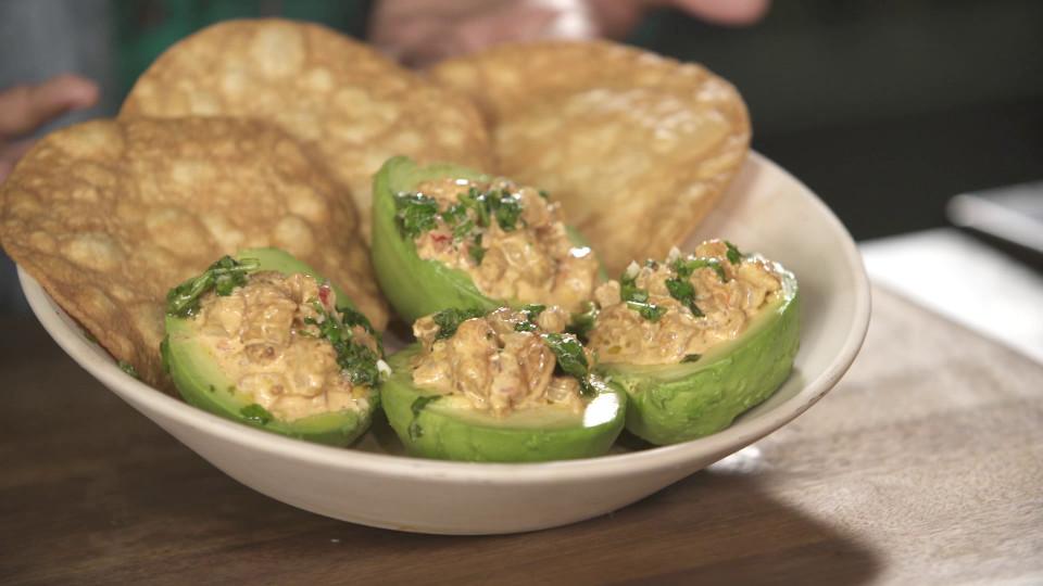 Shrimp Stuffed Avocados ~ Recipe   Tastemade