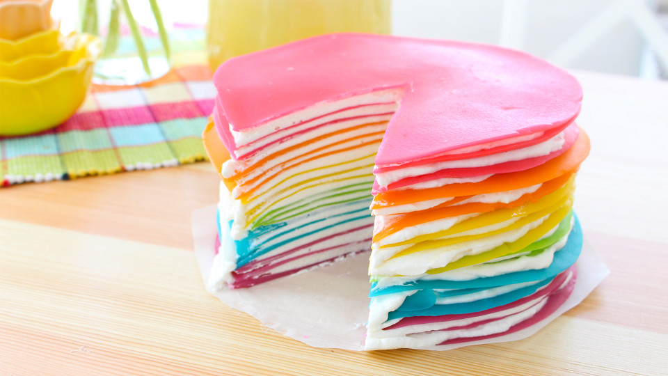 Layer Rainbow Cake Recipe