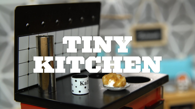 Tiny kitchen big dreams tastemade for Kitchen boiler housing unit