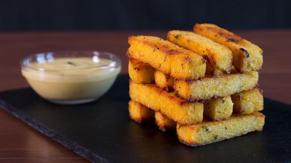Baked Polenta Fries With Garlic Aioli ~ Hungry AF | Tastemade