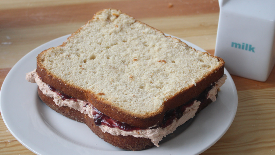 Pb Amp J Sandwich Cake Recipe Tastemade