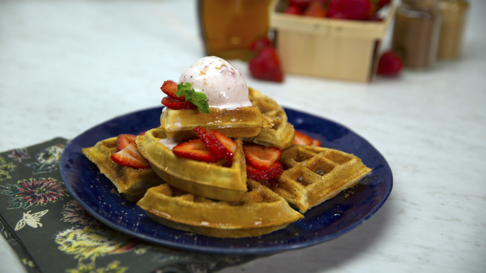 Cinnamon Sugar Waffles ~ Recipe | Tastemade