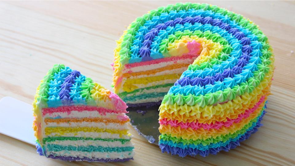 Rainbow Cake Recipe Tastemade
