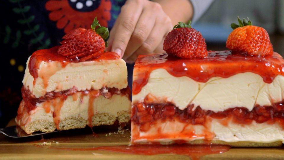 Strawberry Jam Cream Cheese Cake Filling Recipe