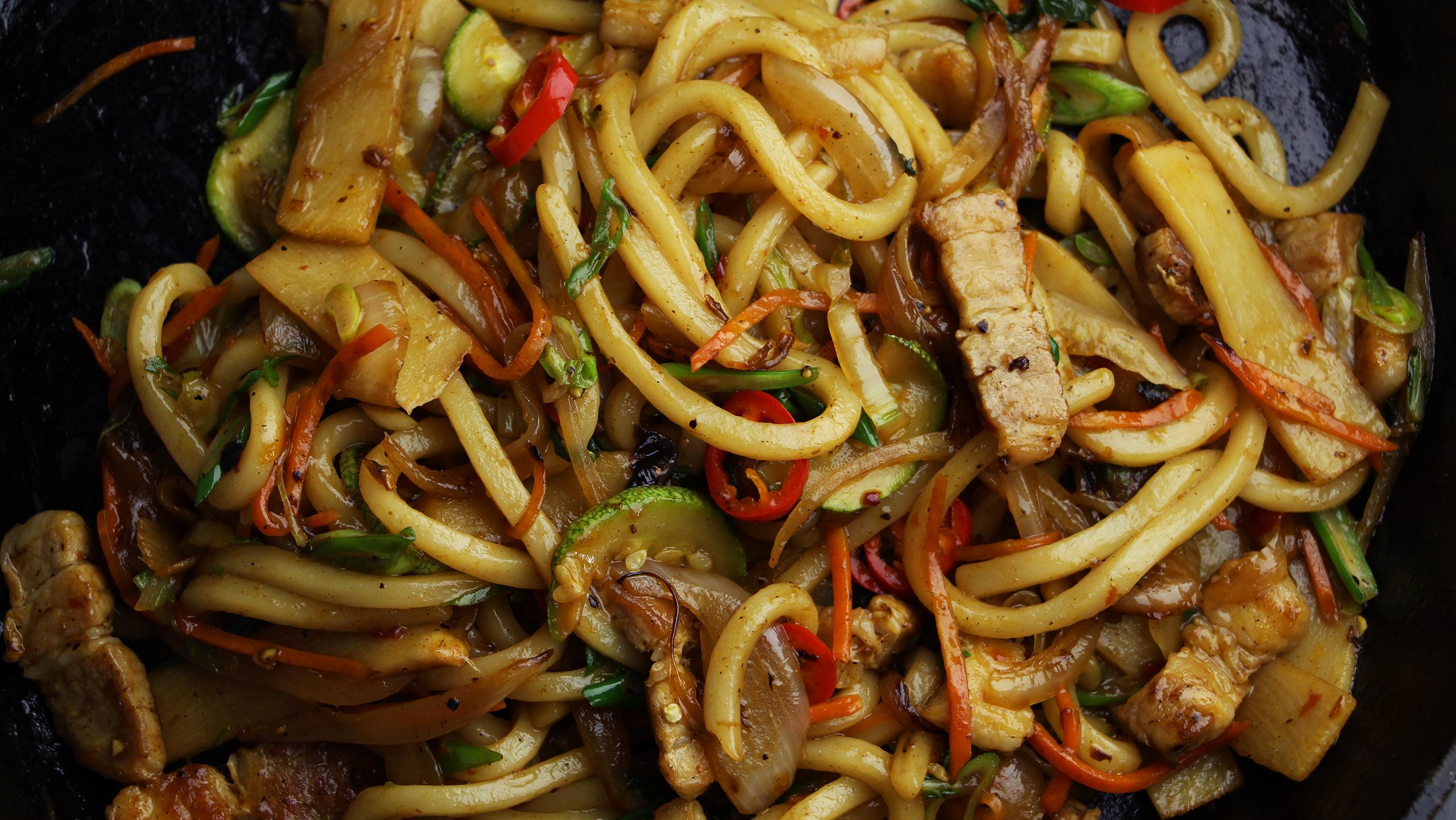 Stir Fried Udon Noodles ~ Recipe Tastemade