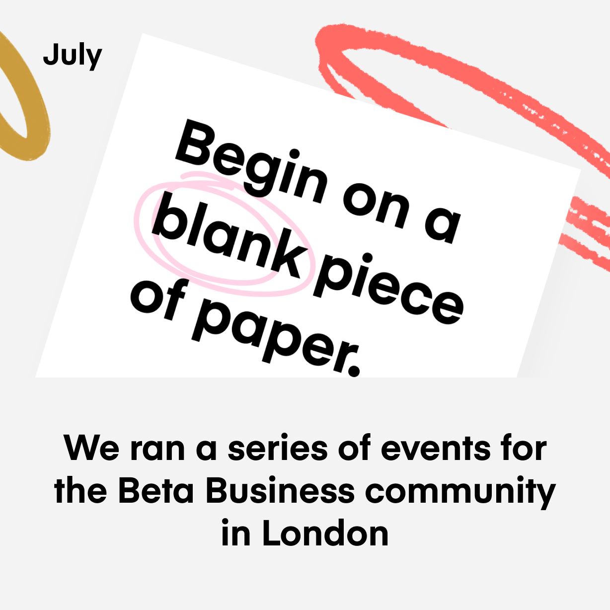 We ran a series of events for the Beta Business community in London