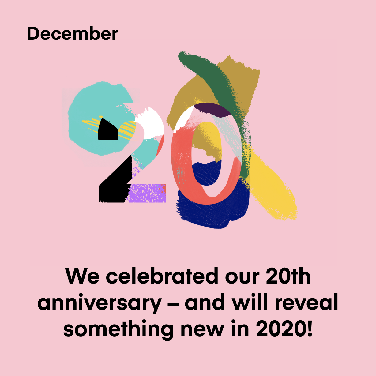 We celebrated our 20th anniversary – and will reveal something new in 2020!