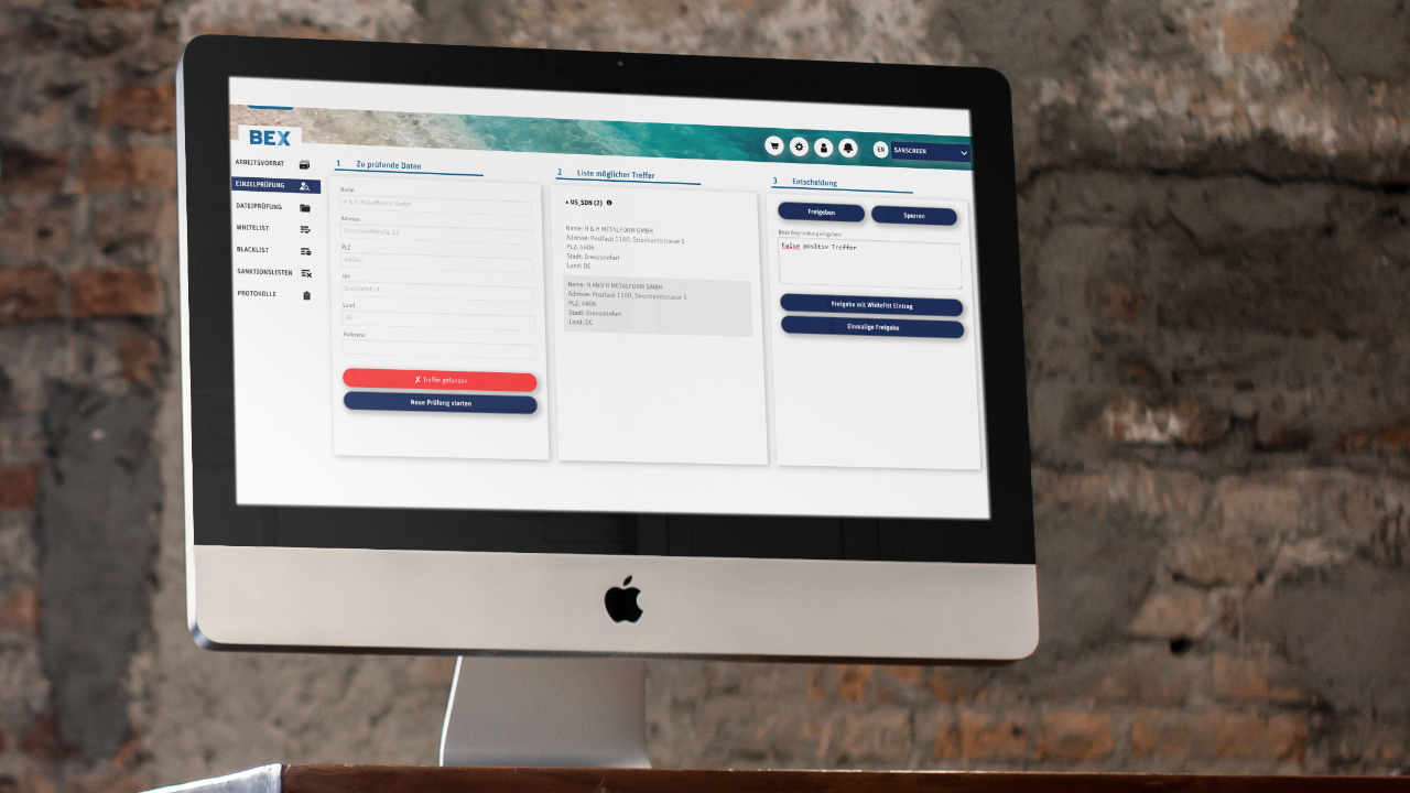 BEX Sanscreen Application