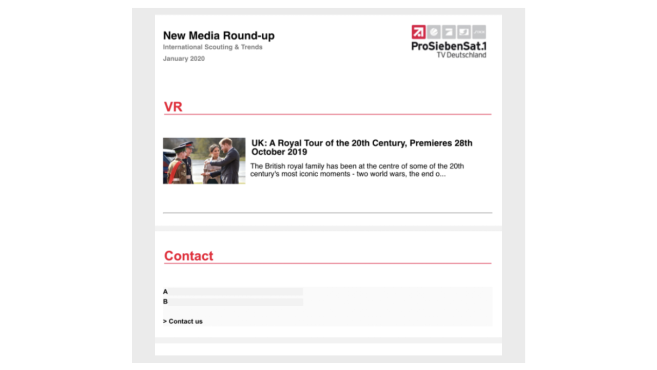 Within the 7scout Platform, it is possible to send out a newsletter with the current news selection
