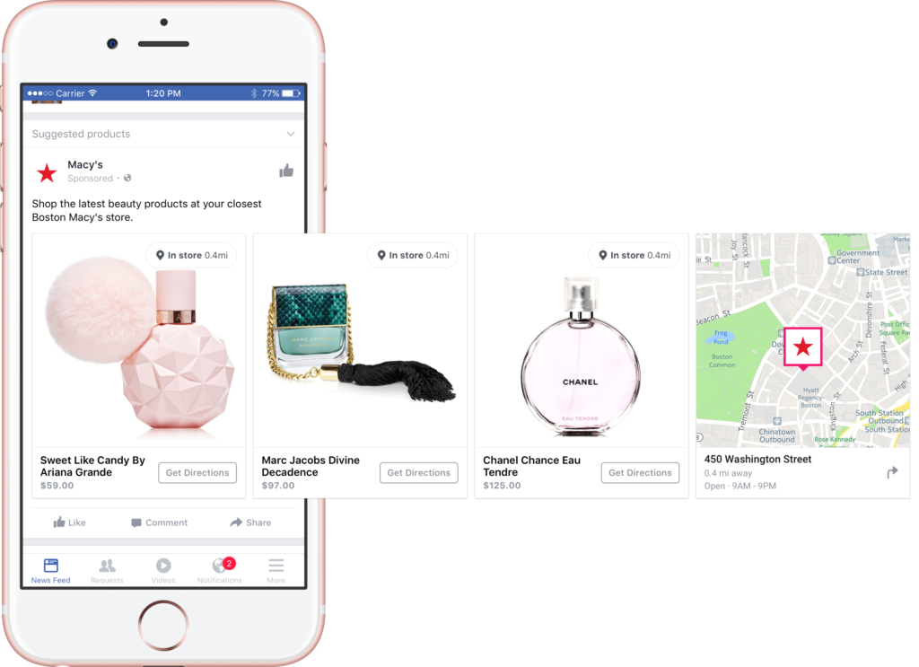 Facebook Local Inventory Ads in-store foot traffic