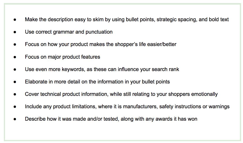 Amazon product data description