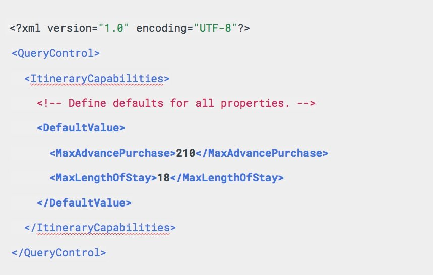 Google Hotel Ads QueryControl Message Example