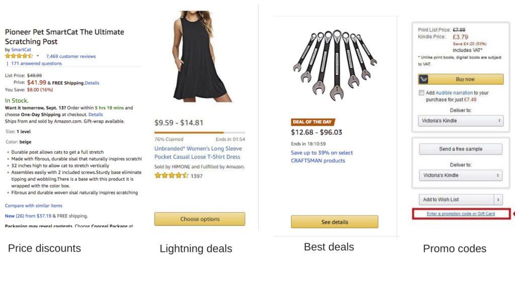 Amazon discount types