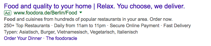 AdWords text ads example