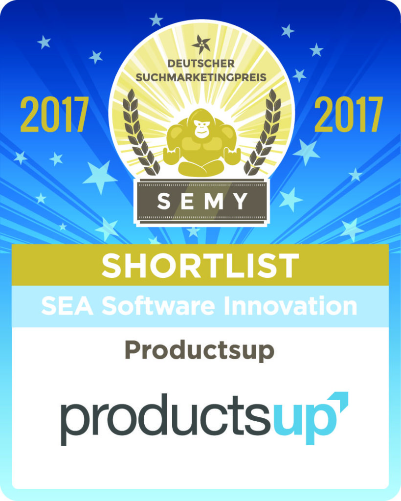 SEMY Awards 2017 Productsup shortlisted