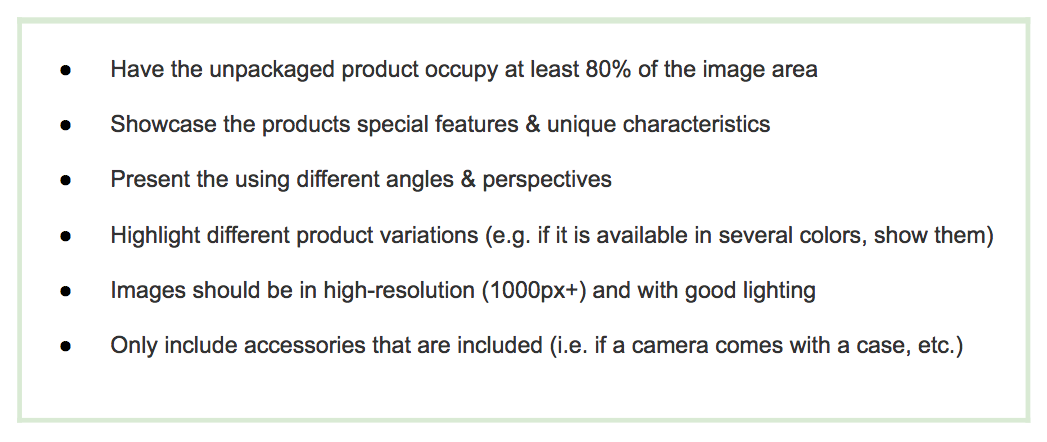 Amazon product image tips