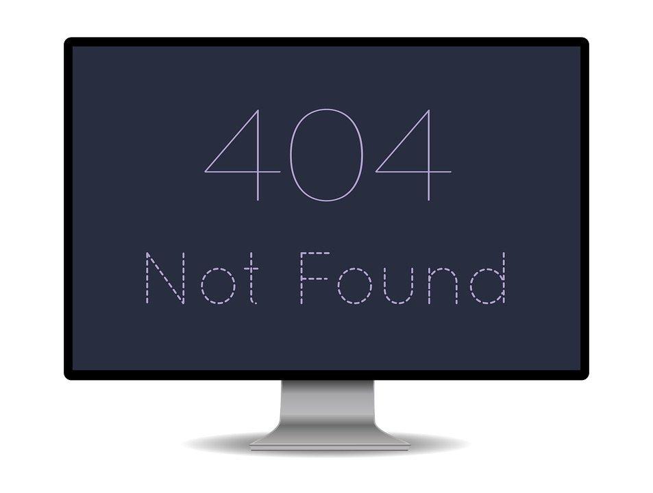 Product URL 404 error example display