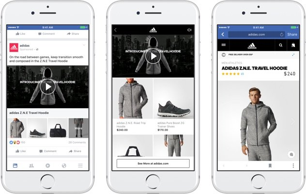 a closer look at how facebook collection mobile ads appear in the mobile news feed
