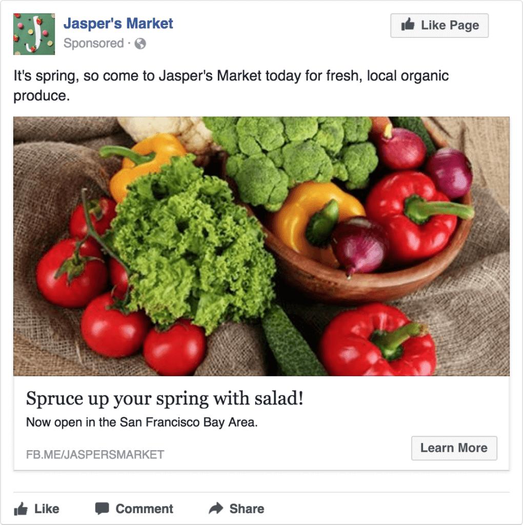 Facebook Single image ads