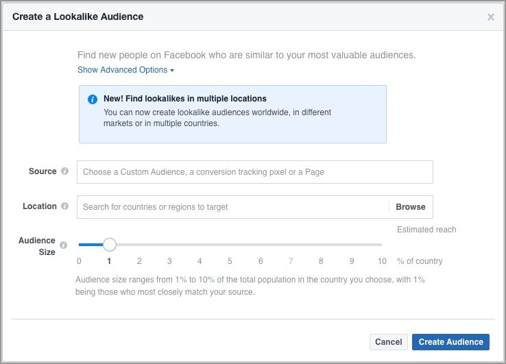 how to set up a Facebook lookalike audience