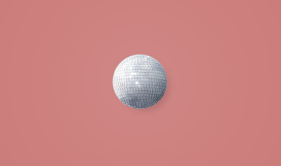 how to save money in university image with a mirror ball and pink background.