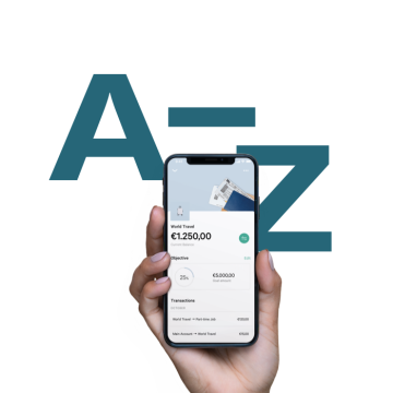 N26 Interim Brand Campaign and a hand holding a phone.