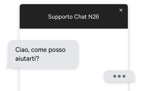 Supporto Chat - N26 The Mobile Bank.