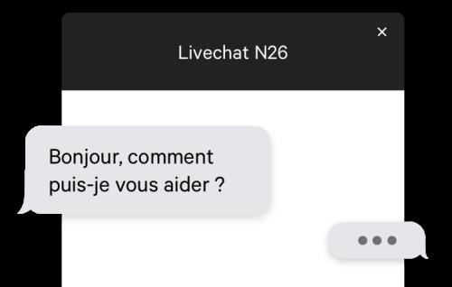 Livechat - N26 La Banque Mobile.