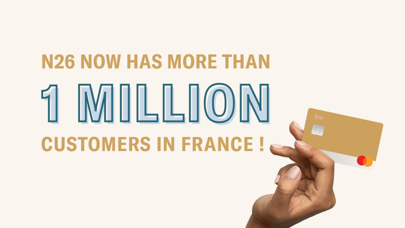 N26 now has over 1 million customers in France!