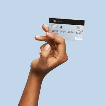 N26 Visa debit card with no hidden fees.