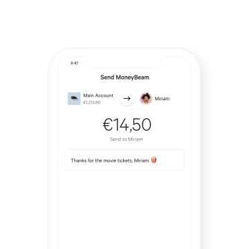 N26 Bank Account Moneybeam example transaction