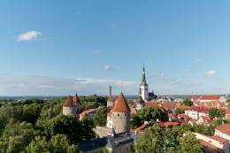 old town view of tallinn.