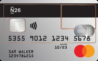 Transparent N26 Standard card.