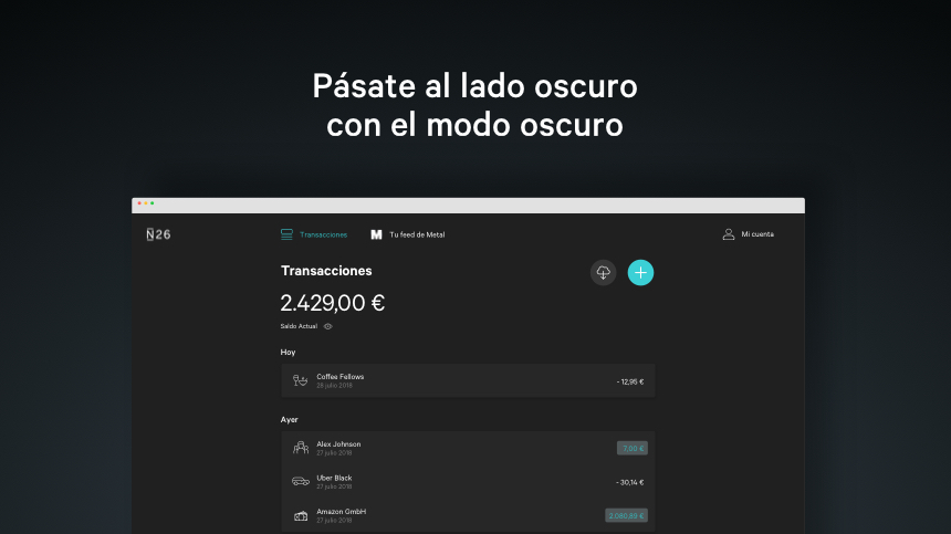 N26 Web App-Blog Body - Dark Mode-ES