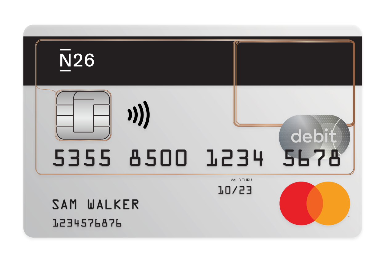 N26 Press Image of our Free Debitcard Mastercard