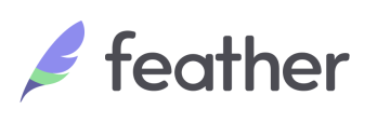 Logo of insurance consulting company Feather.