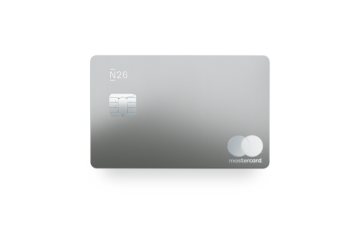 N26 Premium Metal Mastercard in slate grey.
