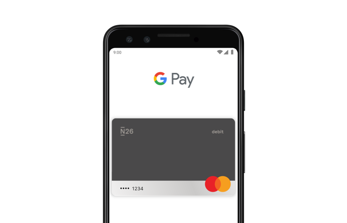 N26 You - Pagamenti con carta tramite Google Pay.