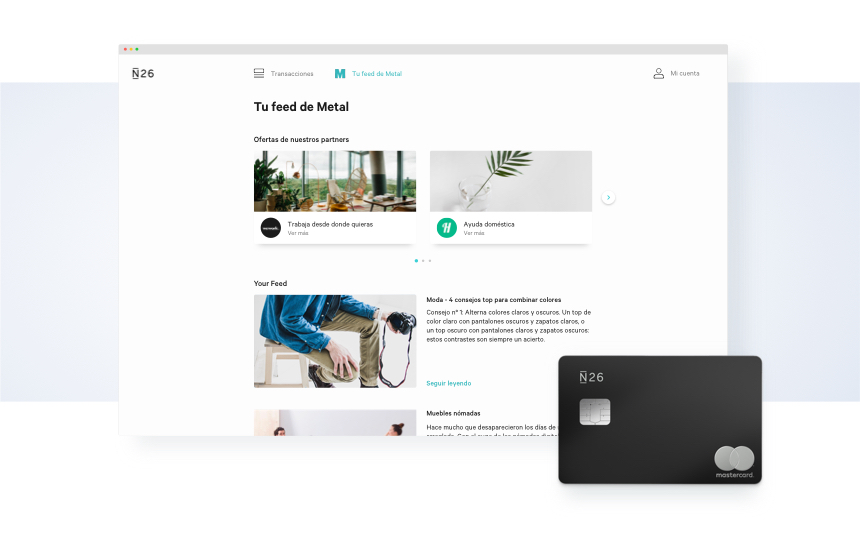 N26 Web App-Blog Body - Metal-ES
