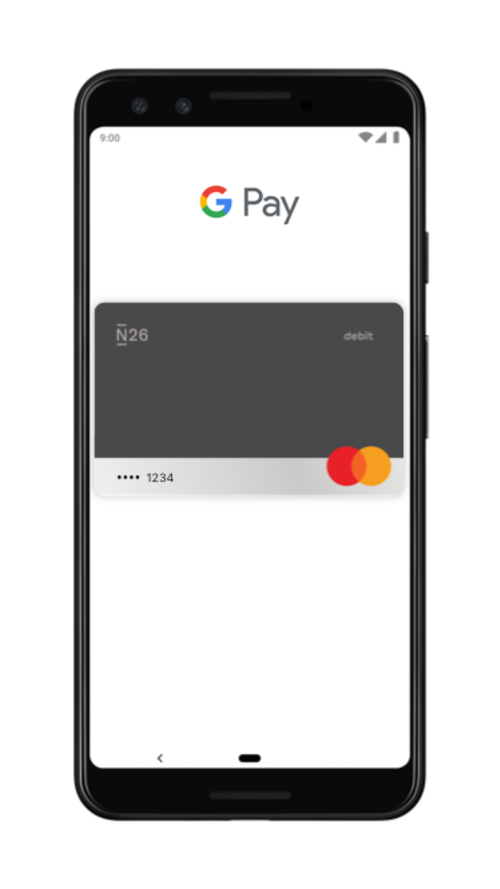 N26 Mastercard now works with Google Pay