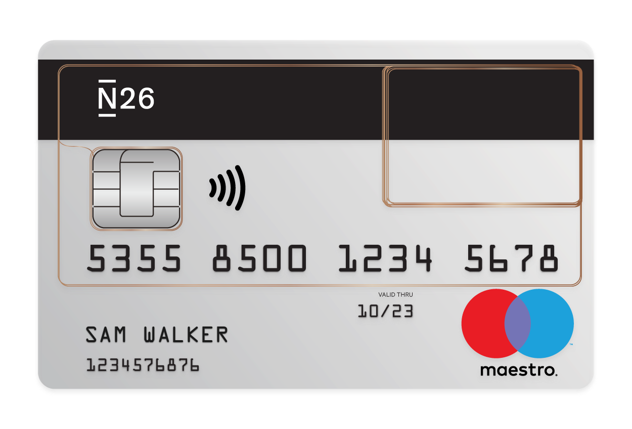 N26 Press Image of our Free Debitcard Maestrocard