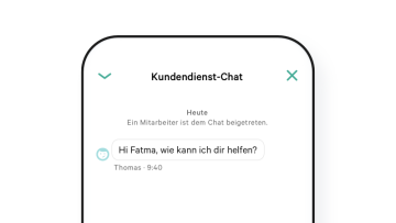 N26 Girokonto Kundendienst-Chat in der App.