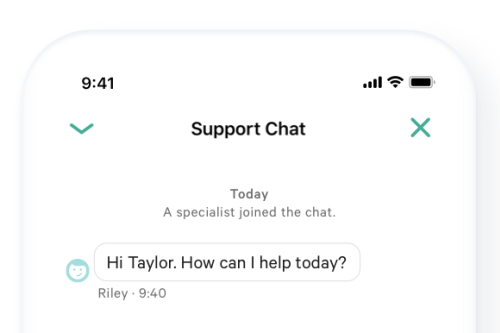 N26 Bank Account Customer Service Chat in App.