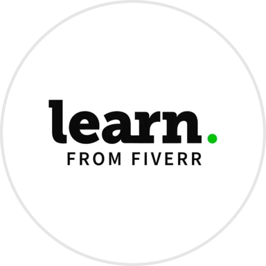 Logo of the Fiverr company.