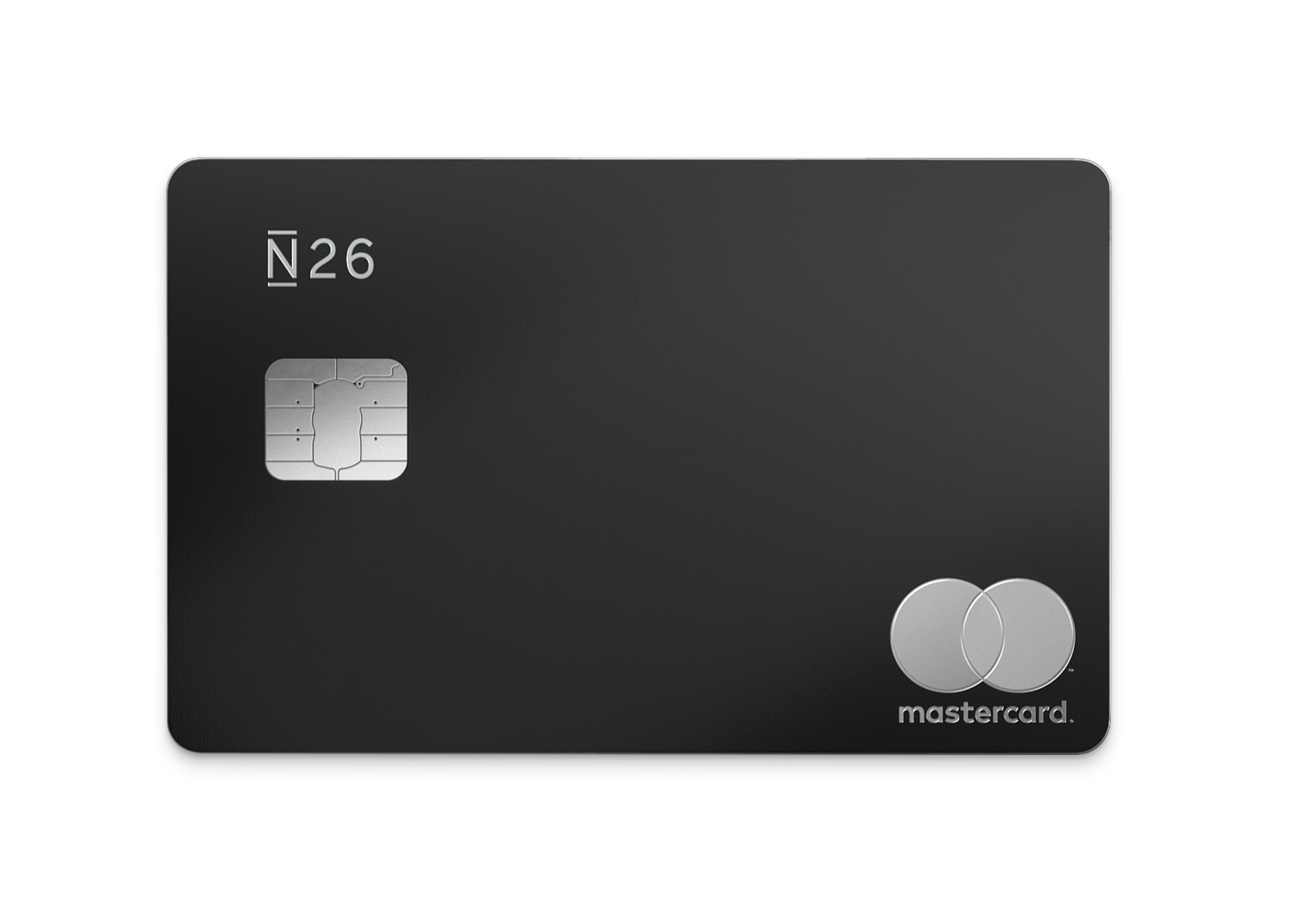 N26 Press Image of our Premium Metal Card in Charcoal Black
