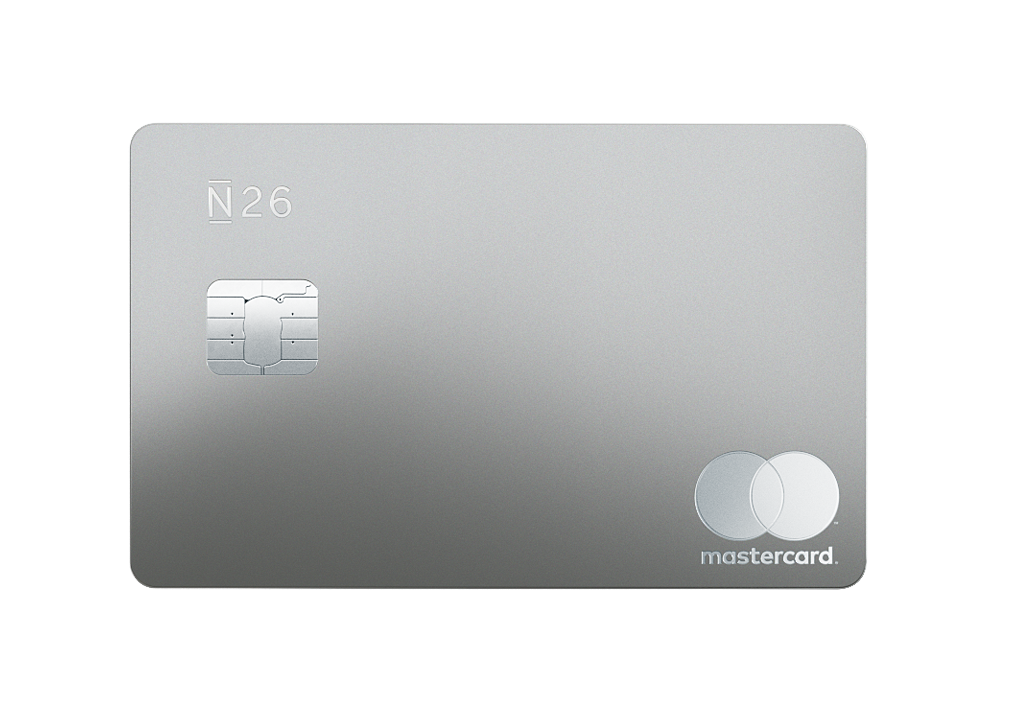N26 Press Image of our Premium Metal Card in Slate Grey