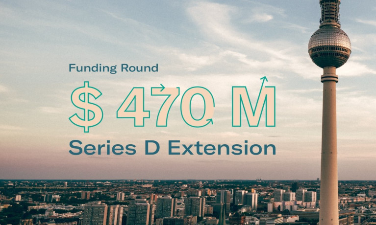 N26 Series D Funding Announcement - 470 million dollars with Berlin tv tower